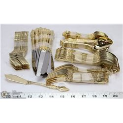 SET OF NORTHCRAFT GOLD COLORED CUTLERY INCL