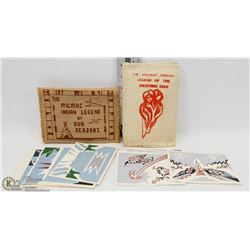 TWO SETS OF MICMAC SILK SCREEN NOTE CARDS IN