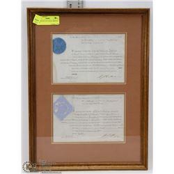 ANTIQUE SET OF 2 LEGAL ORIGINAL 1868