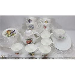 LOT OF CHINA BONE CUPS AND SAUCERS - DUCHESS