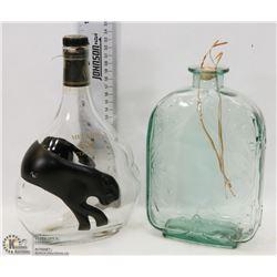 AQUA BLUE DECORATIVE GLASS WITH MEUKOW VS COGNAC