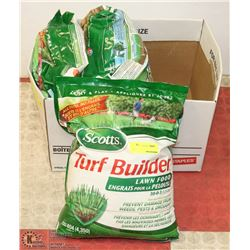 3 BAGS OF SCOTTS TURF BUILDER LAWN FOOD, 13LBS/BAG
