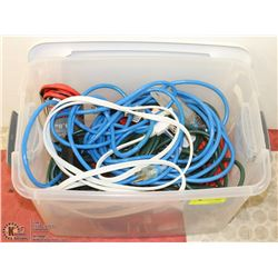 TOTE OF NEW EXTENSION CORDS & POWERBARS