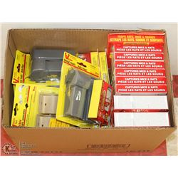 LOT OF ASSORTED MOUSE TRAPS/POISON
