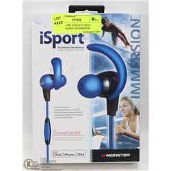 ISPORT - THE ATHLETE HIGH - PERFORMANCE HEADPHONE.