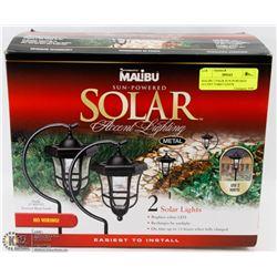 MALIBU 2 PACK SUN-POWERED ACCENT YARD LIGHTS