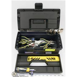 MASTERCRAFT TOOL BOX WITH CONTENTS.