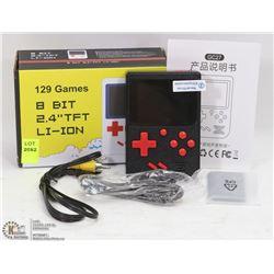 NEW 129 BUILT IN GAMES 8 BIT PORTABLE GAME CONSOLE