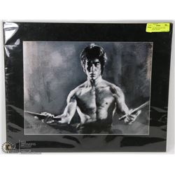 BRUCE LEE PRINT READY FOR FRAMING BY ARTIST