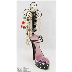 SHOE JEWELRY STAND FILLED