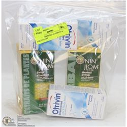 BAG OF ASSORTED ALLERGY & COLD RELIEF