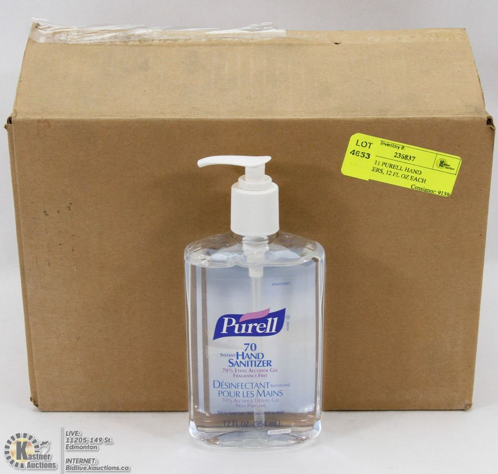 Expired 2011 Purell Hand Sanitizers 12 Fl Oz Each