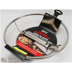 STAINLESS STEEL GRILLING SKILLET
