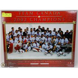 TEAM CANADA 2002 CHAMPIONS PICTURE