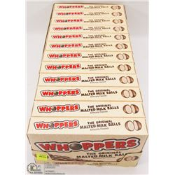 12 BOXES OF WHOPPERS CANDIES