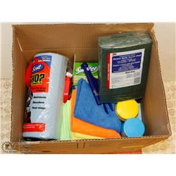 LOT OF NEW CLEANING SUPPLIES