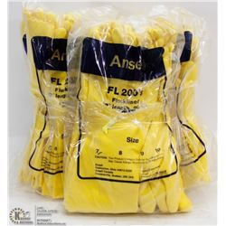 BUNDLE OF ANSELL FLOCK LINED GLOVES