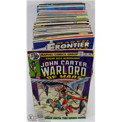 BOX OF OVER 100 COMIC BOOKS.