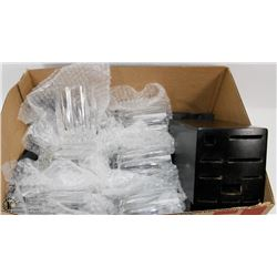 BOX W/SET OF 6 CRYSTAL GLASSES AND