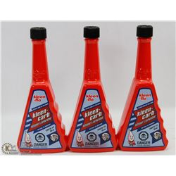 LOT OF 3 BOTTLES OF KLEEN FLO CLEAN CARB ADDITIVE-
