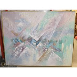 """ABSTRACT 61""""X48"""" CANVAS ART PICTURE."""