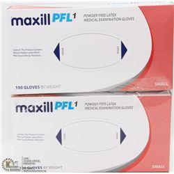 2 BOXES OF POWDER FREE LATEX MEDICAL EXAMINATION