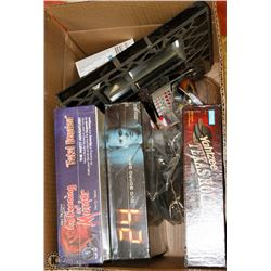 BOX OF ASSORTED BOARD GAMES AND MORE