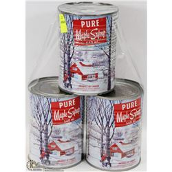3 CANS OF PURE MAPLE SUGAR