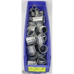 """LARGE CONTAINER OF 1"""" EMT CONNECTORS"""