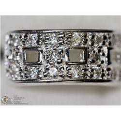 3) STERLING SILVER CZ RING (6.18G) SIZE 5