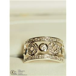 15) STERLING SILVER CZ RINGS (6.8G) SIZE 7