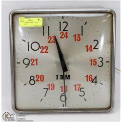 VINTAGE IBM SCHOOL CLOCK (ELECTRIC)