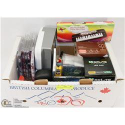 BOX OF NEW SWIMMING SPEEDO CAPS & MISC