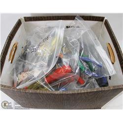 BOX OF ASSORTED HANDTOOLS INCL, SCREW DRIVERS,