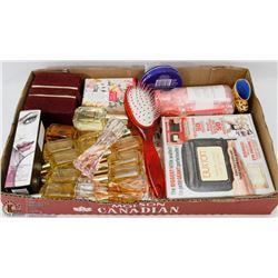 BOX OF LADIES TOILETRIES