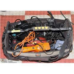 BAG OF ELECTRICAL TOOLS