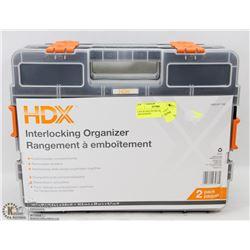 2 PACK HDX INTERLOCKING ORGANIZERS