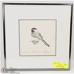 FRAMED & MATTED LIMITED EDITION CHICKADEE PRINT