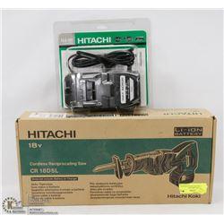 HITACHI 18V CORDLESS RECIPROCATING SAW & CHARGER