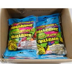 4  LBS OF BALLOONS – ASSORTED SHAPES, SIZES