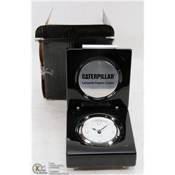 NEW IN BOX CATERPILLAR QUARTZ DESK CLOCK.