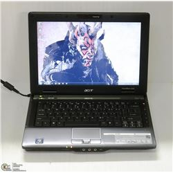 "12.1"" ACER TRAVELMATE LAPTOP W/ WINDOWS 7 PRO"