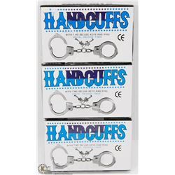 LOT OF THREE HANDCUFFS WITH KEYS