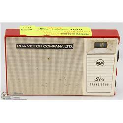 RCA VICTOR COMPANY TRANSISTOR RADIO