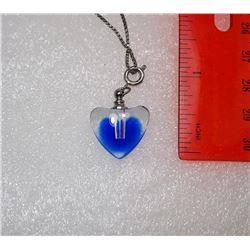 12 - MURANO GLASS HEART PERFUME