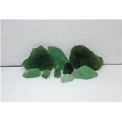 18)  PALE GREEN FLUORITE NATURAL