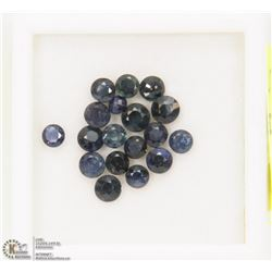 11) GENUINE BLUE SAPPHIRES, ROUNDS, APPROX 5 CTS