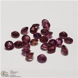 77) GENUINE GARNETS, ROUNDS, APPROX 4 CTS