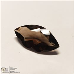 68) SMOKY QUARTZ, MARQUISE SHAPE, APPROX 7 CTS