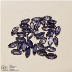 88) GENUINE IOLITES, MARQUISE SHAPE, APPROX 4 CTS